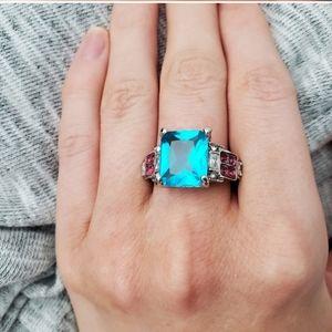 New Cute Aquamarine Engagement Ring